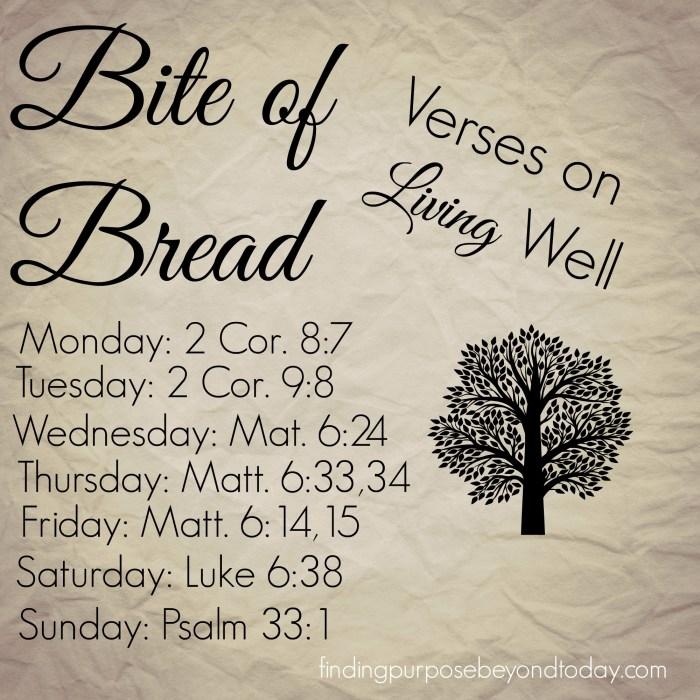 Bite of Bread Living Well