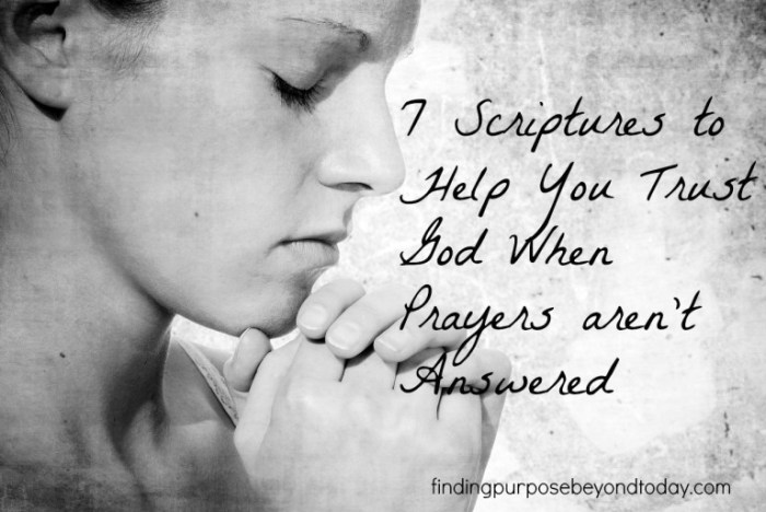 Scriptures to trust God