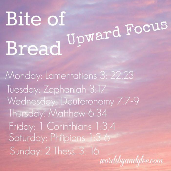 Bite of Bread Upward Focus