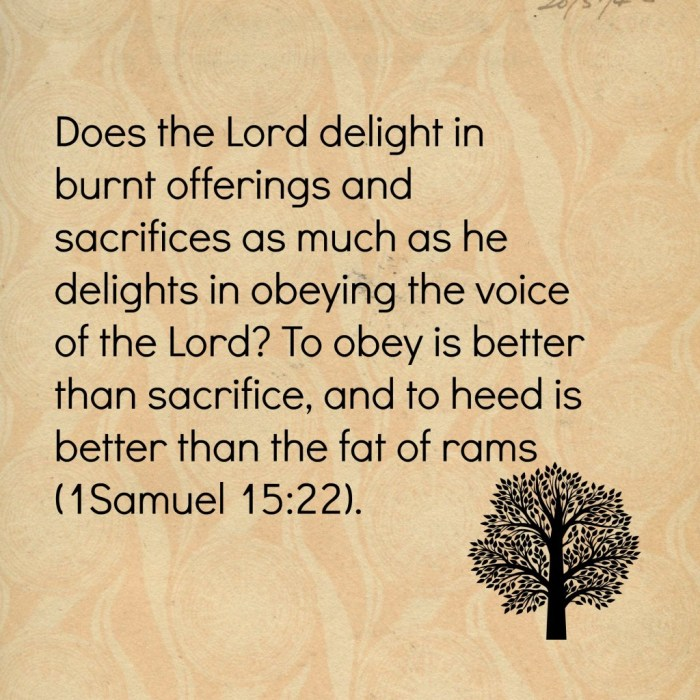 Does the Lord delight
