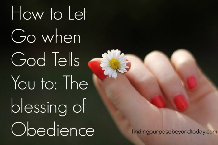 How to let go when God tells