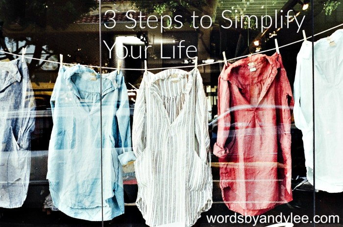 3 Steps to Simplify