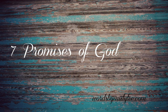 7 Promises of God