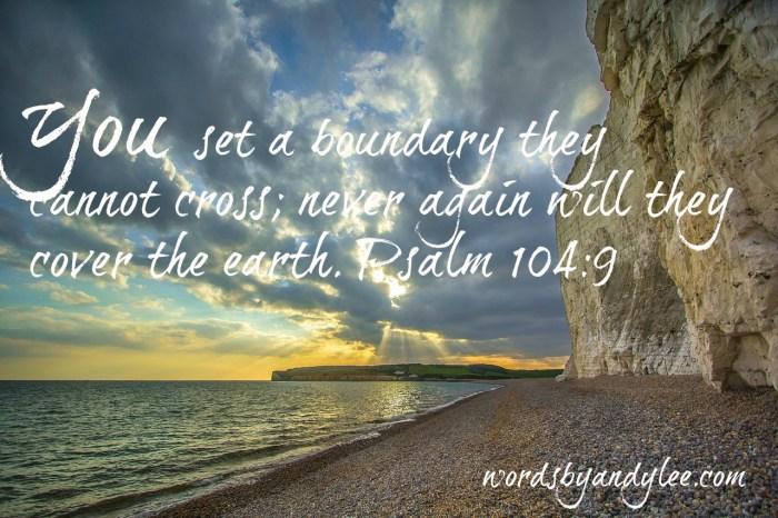You set a boundary