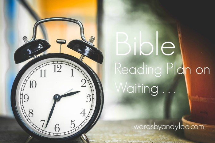 Bite of Bread: Bible Reading Plan on Waiting