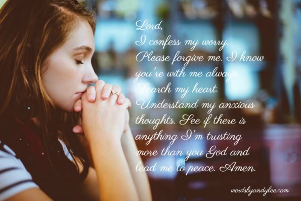 A Prayer to Help Stop Worrying -