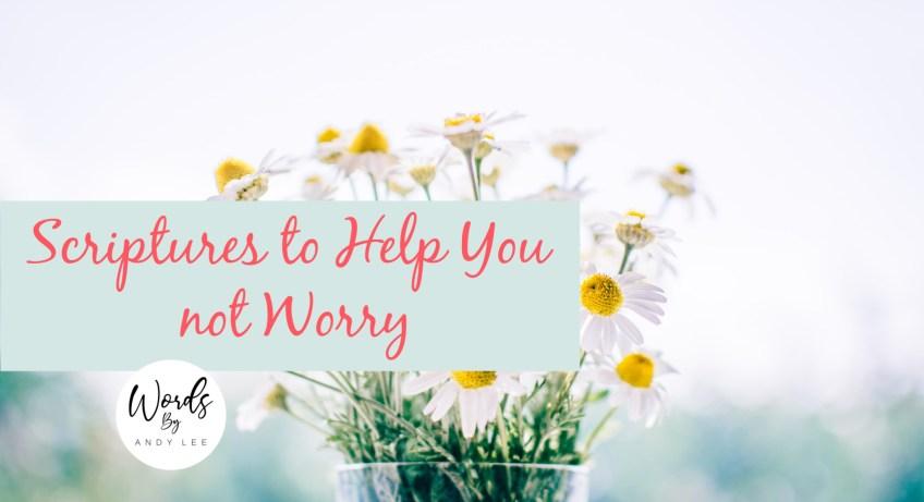 worry scriptures prayer