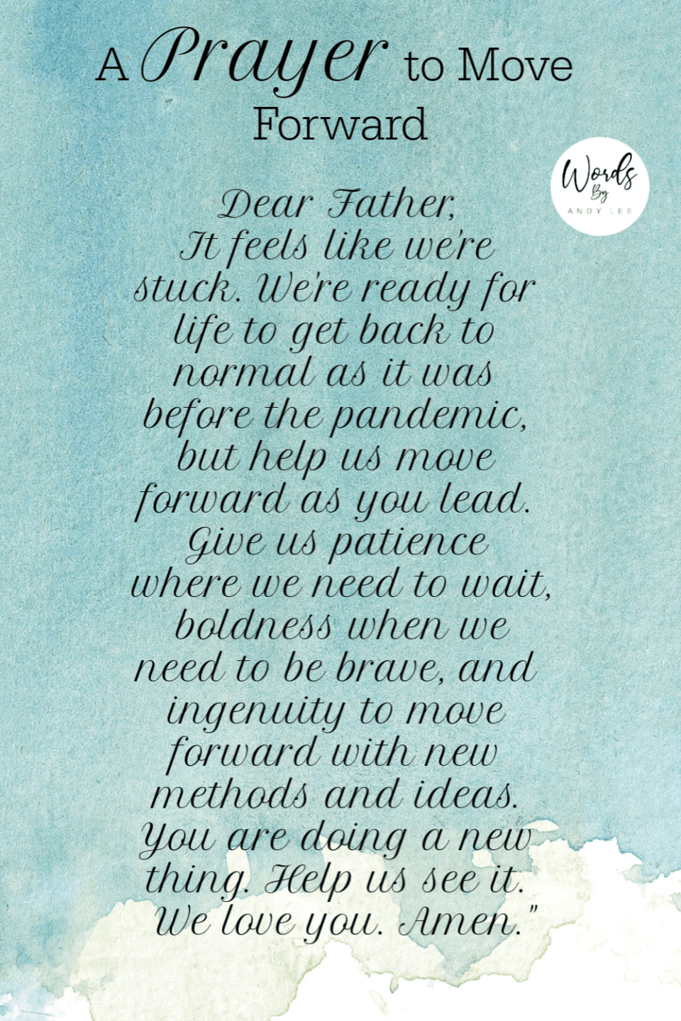 Prayer to move forward