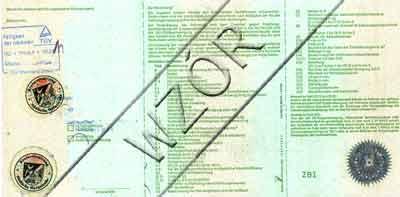 dowód rejestracyjny niemiecki tył- tłumaczenia dokumentów samochodowych wejherowo