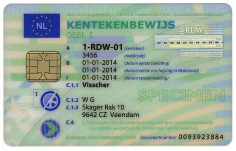wzor-nowego-holenderskiego-dowodu-rejestracyjnego-awers Biuro Tłumaczeń WORDS CONNECT