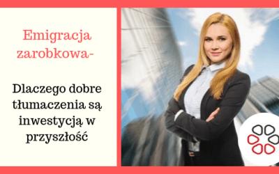 Emigracja zarobkowa a inwestycja w tłumaczenia