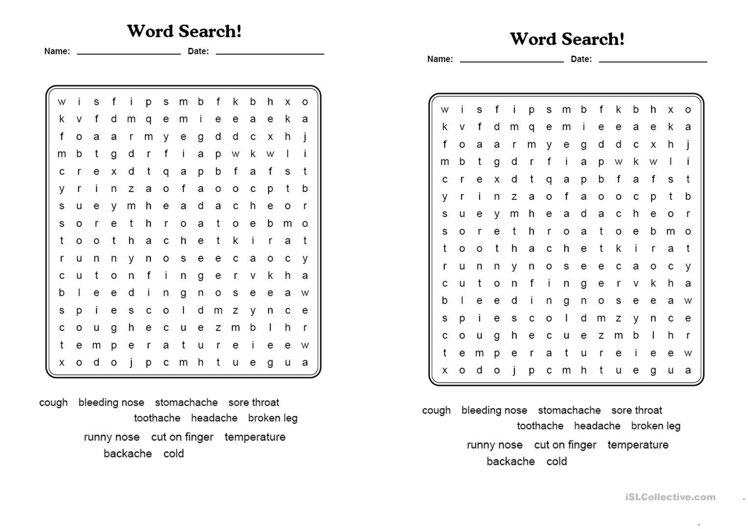 Ch Words Word Search