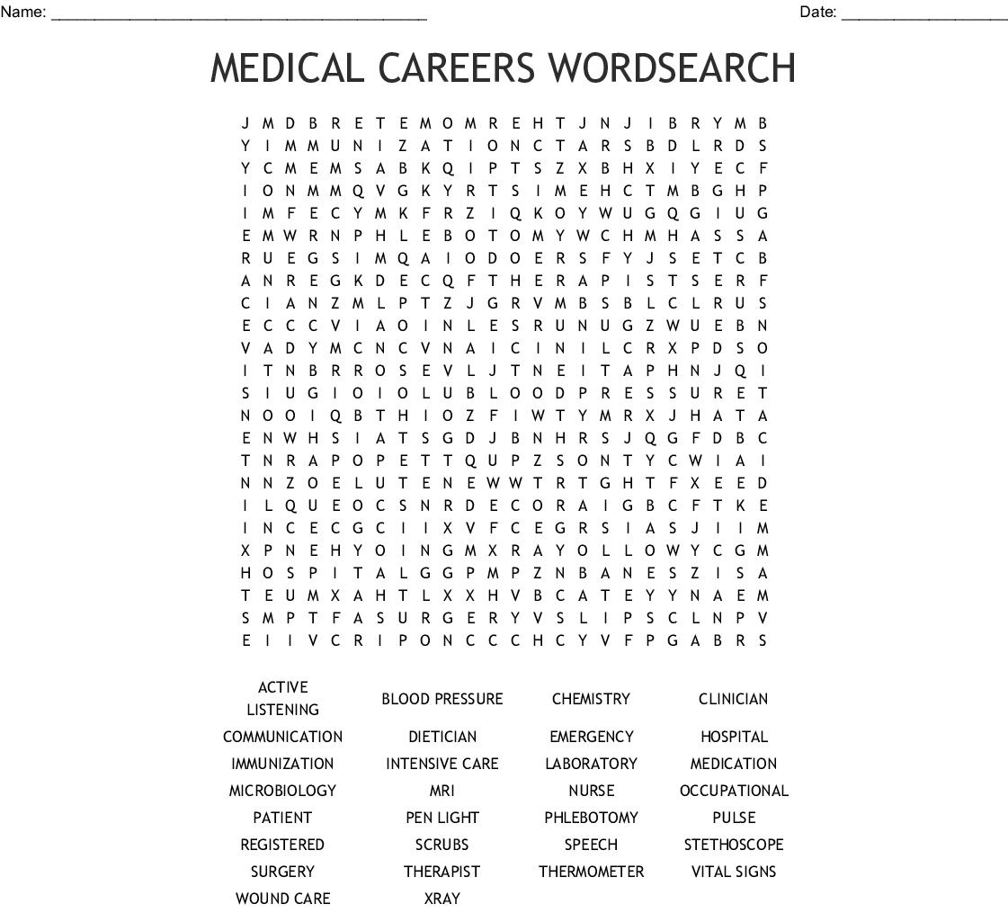 Veterinary Medicine Word Search