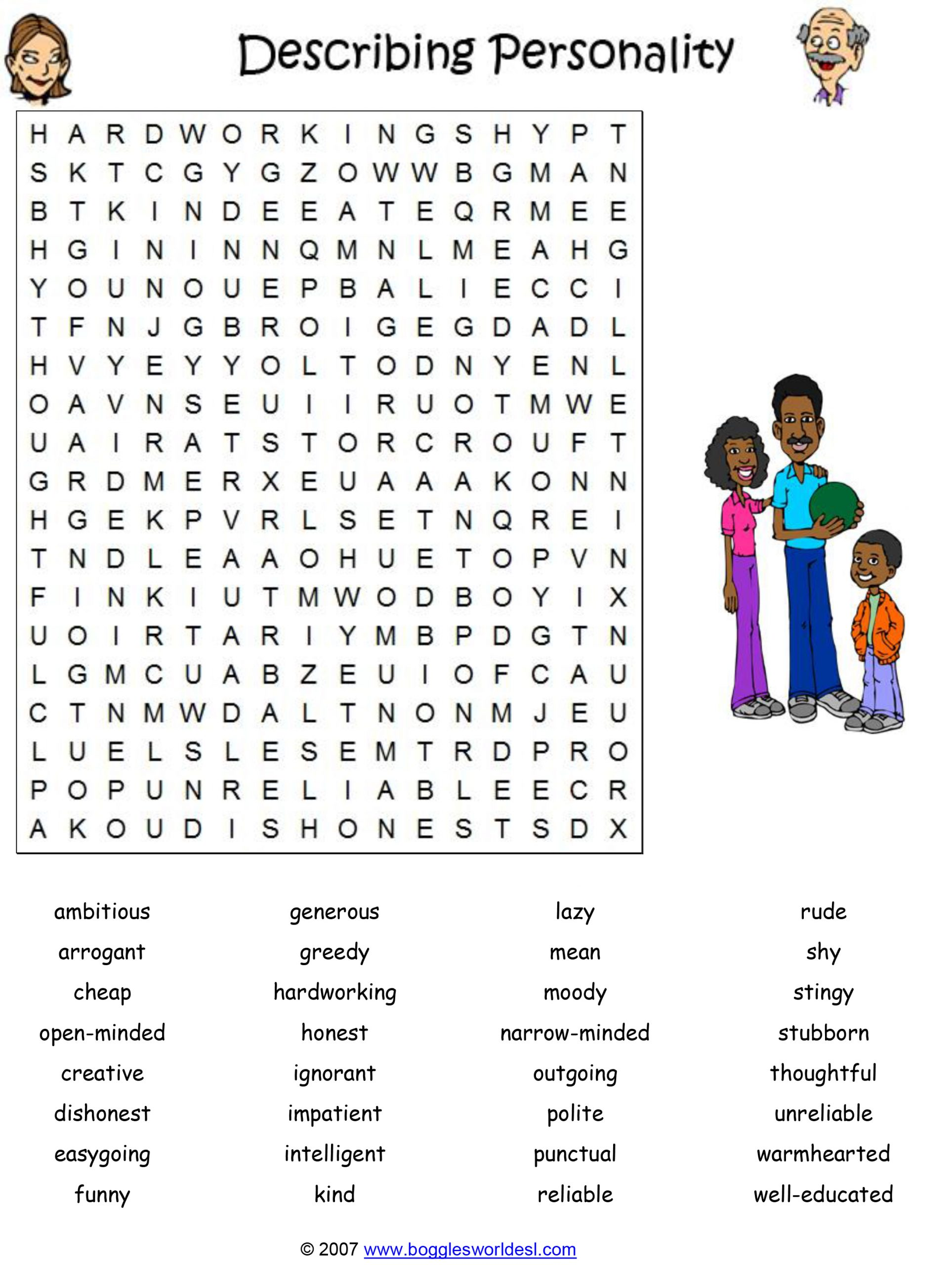 Intermediate Word Search Printable