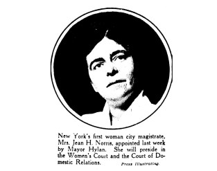 Jean H. Norris, New York's first woman magistrate. (1919)