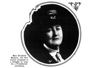 Elizabeth Marbury, first woman proposed delegate at large for a Presidential convention. (1920)