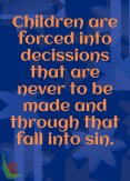 children forced into sin