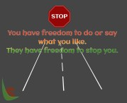 Freedom to stop you