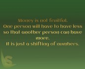 Money is not fruitful