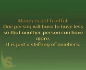 Money is not fruitful