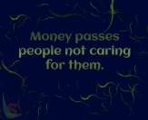Money passes people