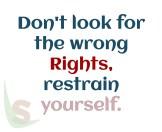 Wrong rights