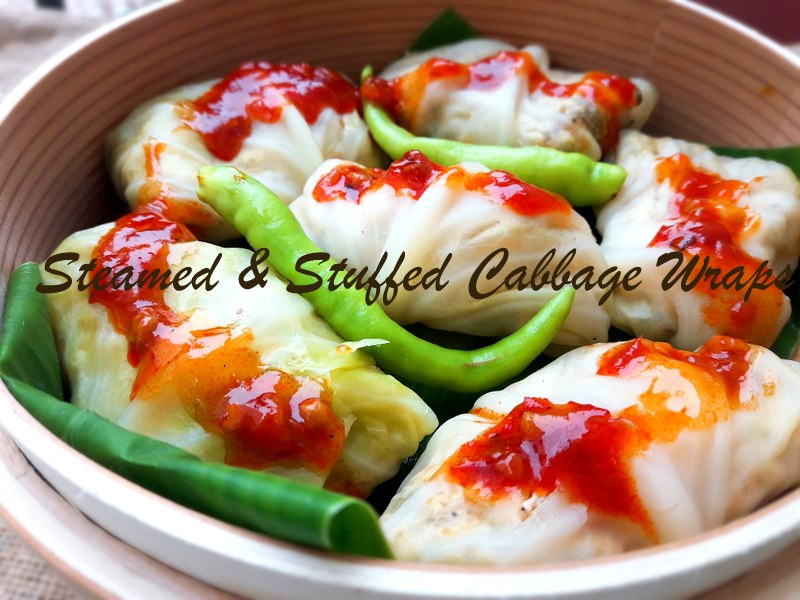 Steamed & Stuffed Cabbage Wraps Recipe