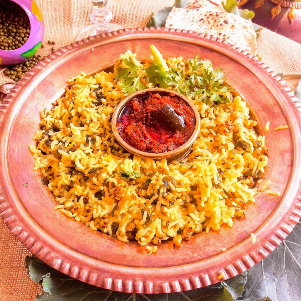 This Green Moong Ki Khichdi Recipe with Kale demands a lot of ghee so please be generous while adding ghee. Green Moong dal adds much needed protein kick and the Kale lends the punch.