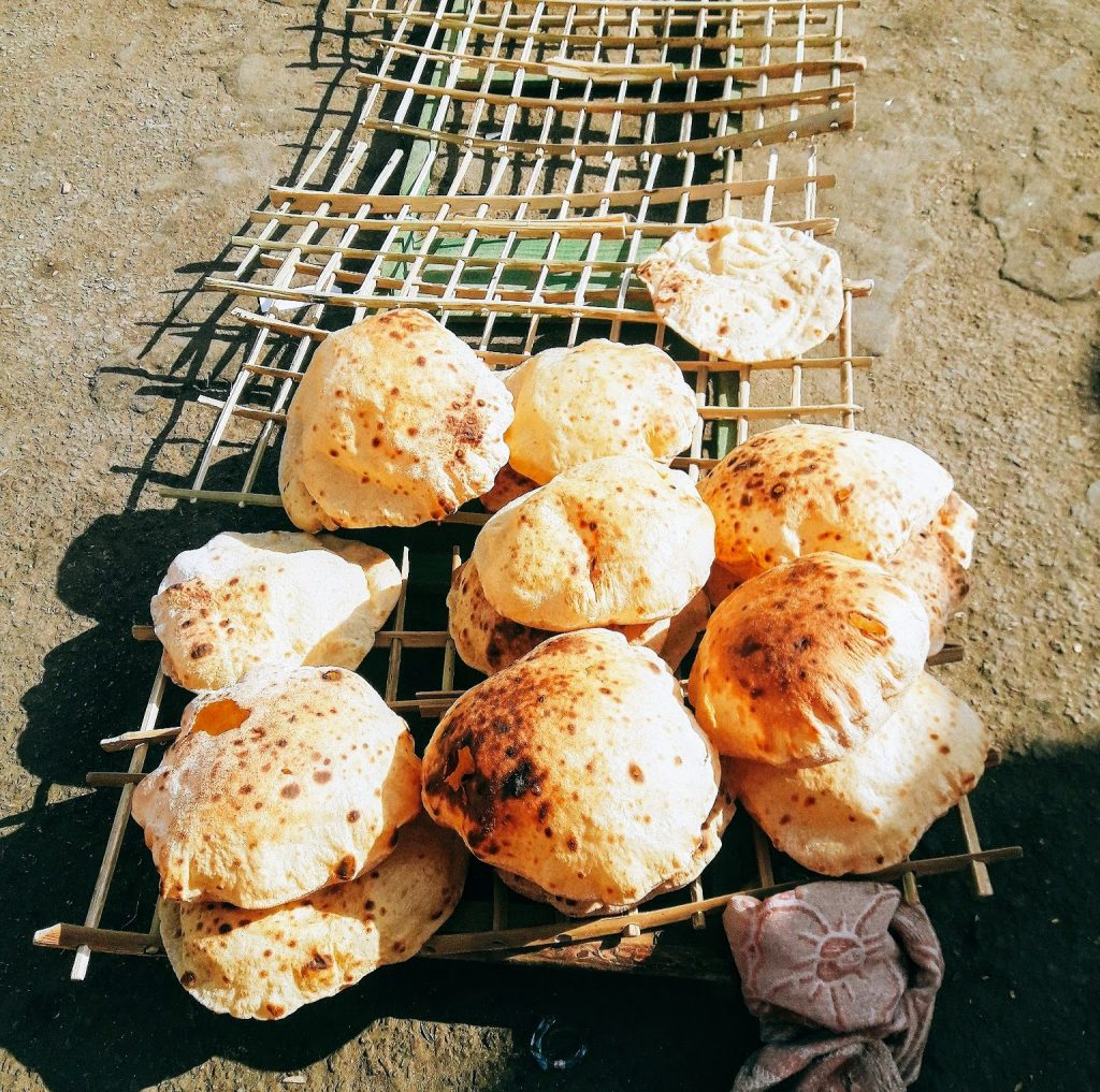 Aish Baladi is an Egyptian bread like Pita bread