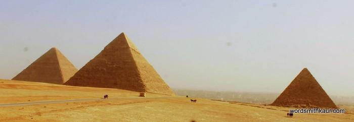 The three Pyramids at Giza