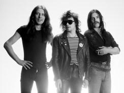 Motörhead circa 1978. From left: Guitarist Eddie Clarke, drummer Phil Taylor and singer and bassist Lemmy Kilmister