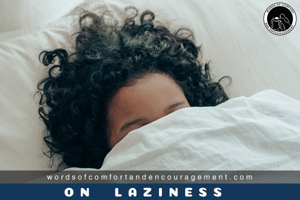 lazy woman on bed