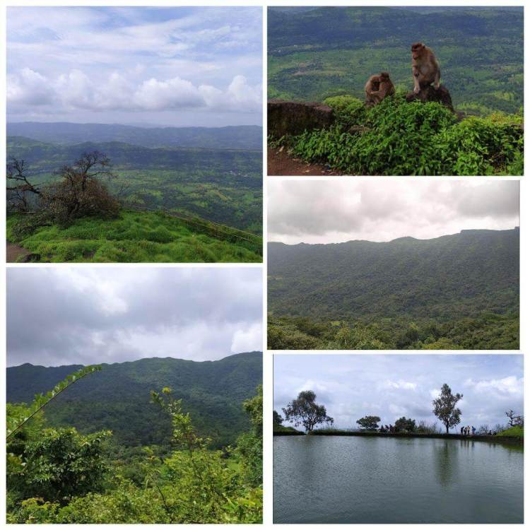 The Rajgad fort nature view