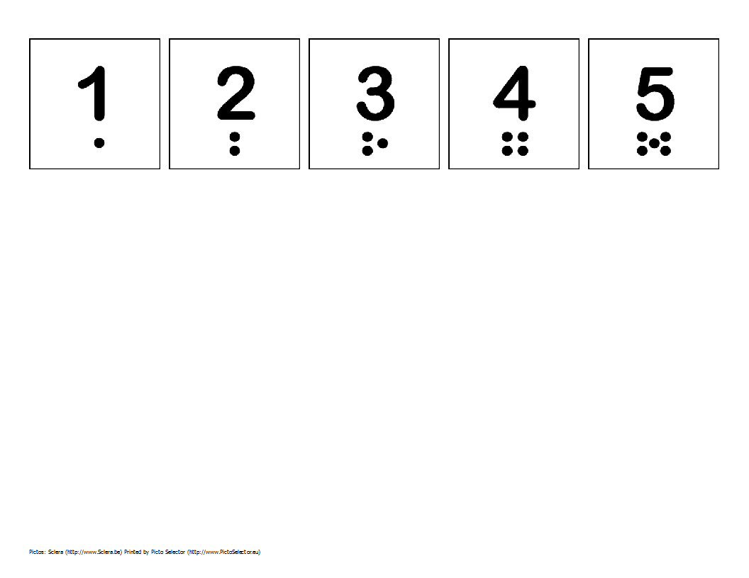 Printable Numbers 1 To 5 Pictures To Pin