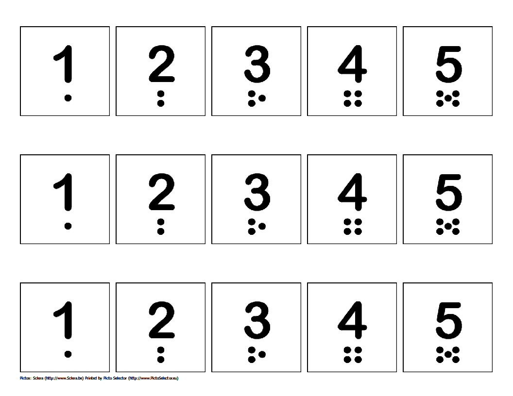 Free Printable Number Strips