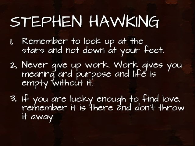 30 Greatest Stephen Hawking Quotes With Images Word Porn Quotes