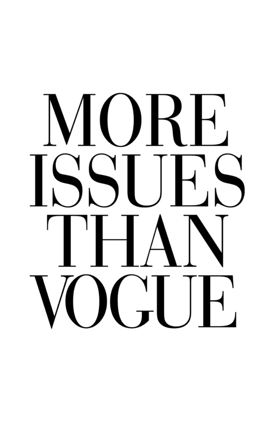 More issues than Vogue.
