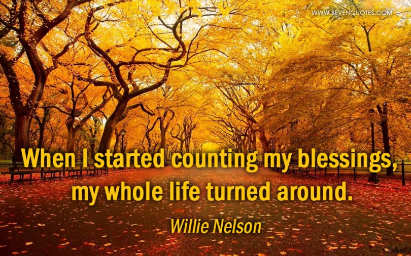 When I started counting my blessings, my whole life turned around. - Willie Nelson