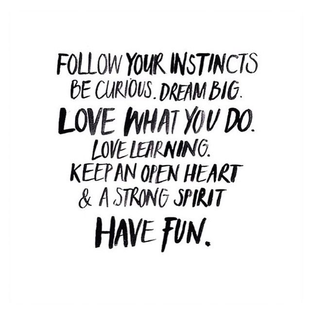 Follow Your Instincts Word Porn Quotes Love Quotes Life Quotes