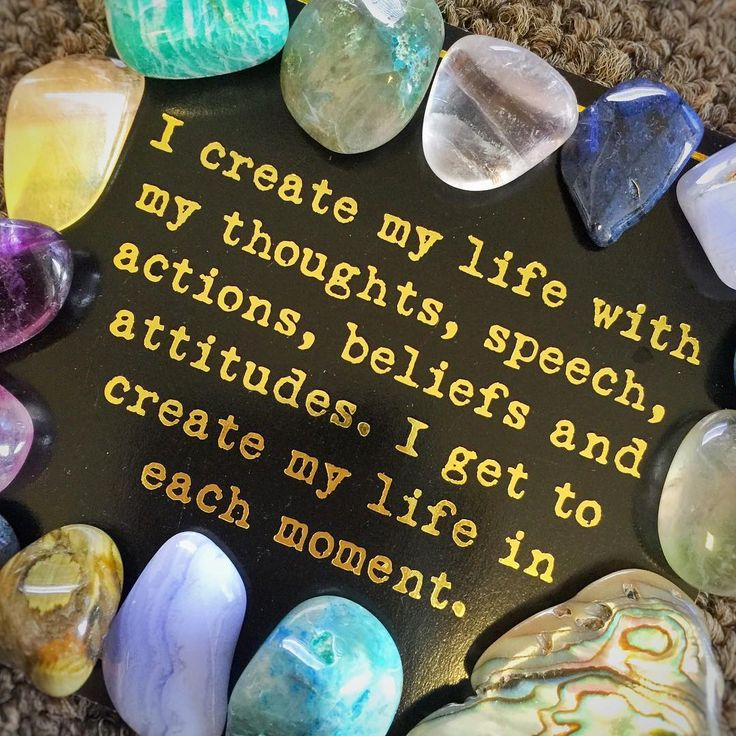 I create my life with my thoughts, speech, actions, beliefs and attitude. I get to create my life in each moments.