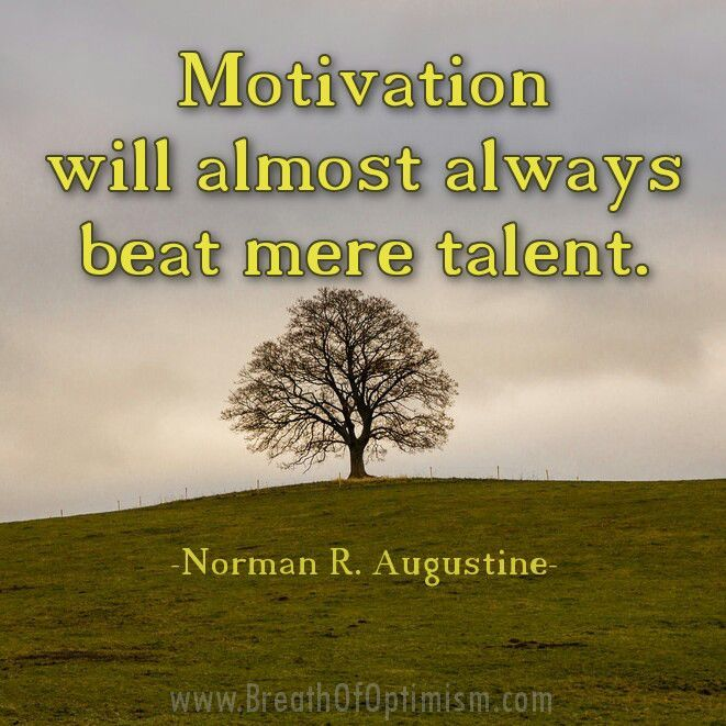 Motivation will almost always beat mere talent. - Norman R. Augustine