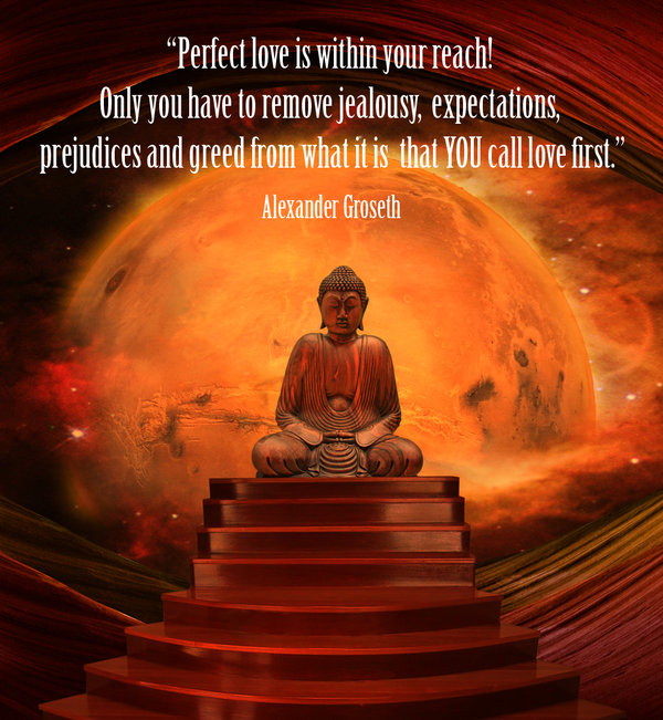 Perfect love is within your reach! Only you have to remove jealousy, expectations, prejudices and greed from what it is that you call love first. - Alexander Groseth