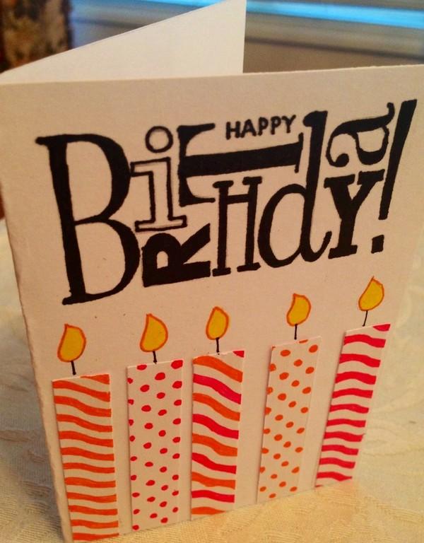 Easy Birthday Homemade Card Ideas