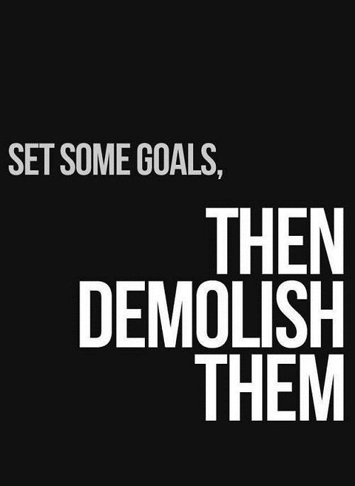 Set Some Goals Gym Quotes