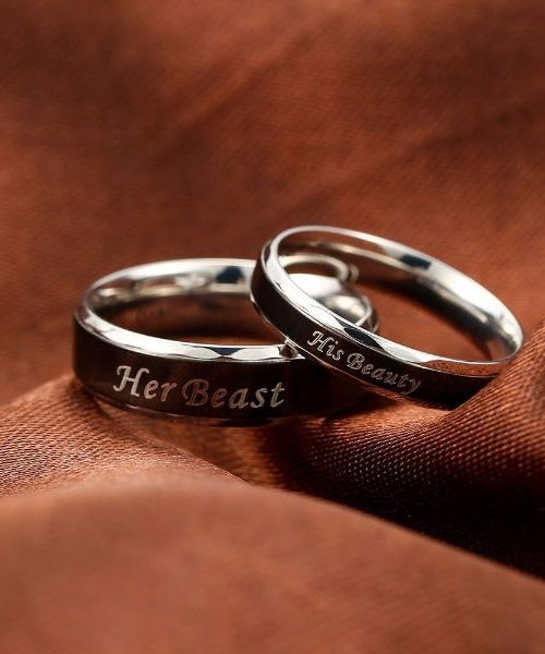 'Her Beast' and 'His Beauty' Couple Ring