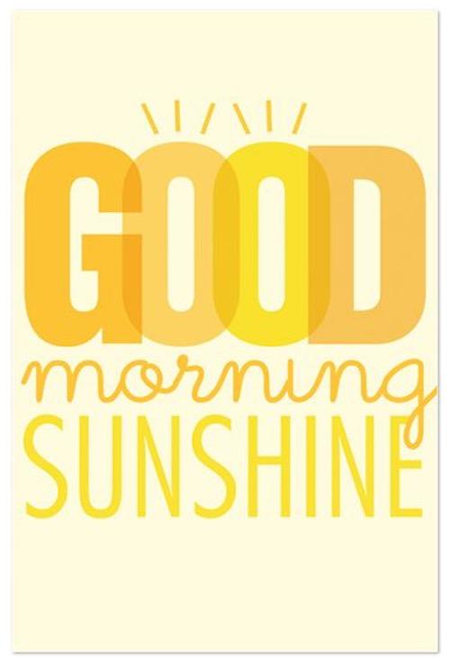 Sunshine Good Morning Quotes
