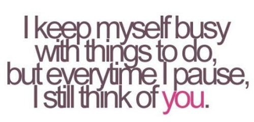 Think of You Love Quotes for Her