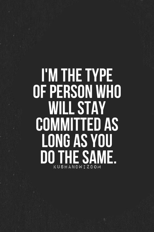 Stay Committed Love Quotes for Her