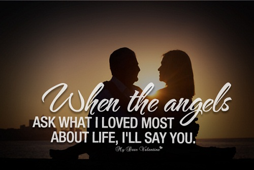 When the Angels Love Quotes for Her