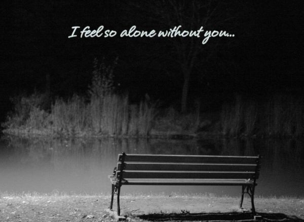 Alone Without You Love Quotes for Her